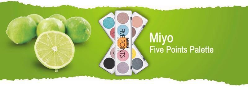 Палетка теней для век Miyo Five Points Palette