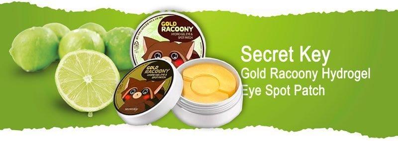 Гидрогелевые патчи для кожи вокруг глаз с золотом Secret Key Gold Racoony Hydrogel Eye Spot Patch